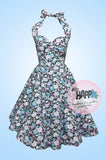Spring Floral Angie Halter Dress