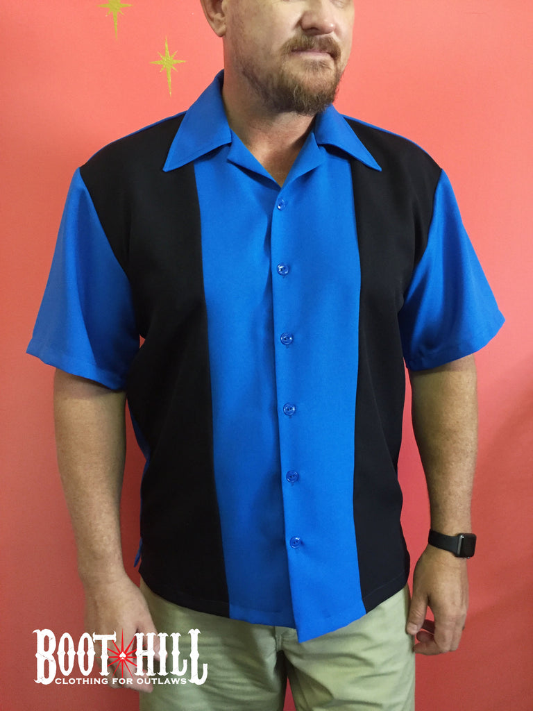Rodger's Bowling shirt Navy and Blue