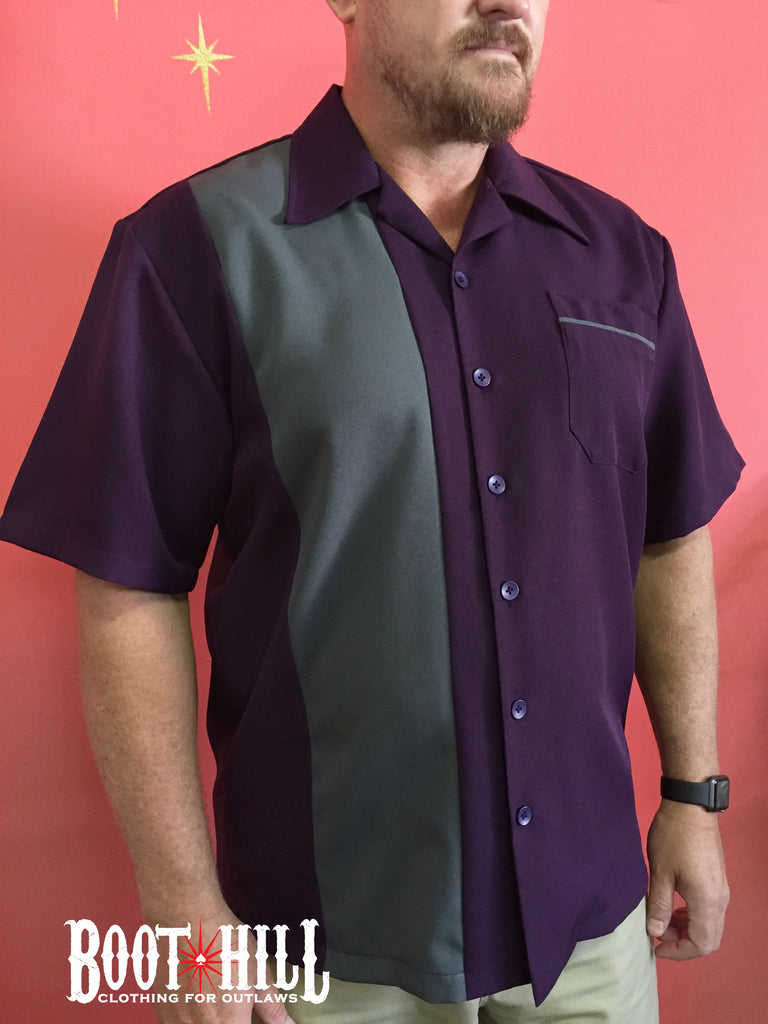 Chris's Bowling shirt Purple