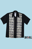 Rory Grey Skull bowling shirt