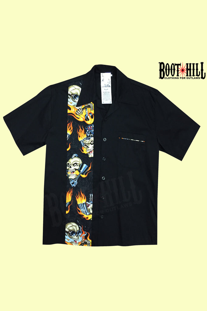Skull and pinstripe Lounge shirt
