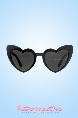 Black Heart Cats Eye Sunglasses