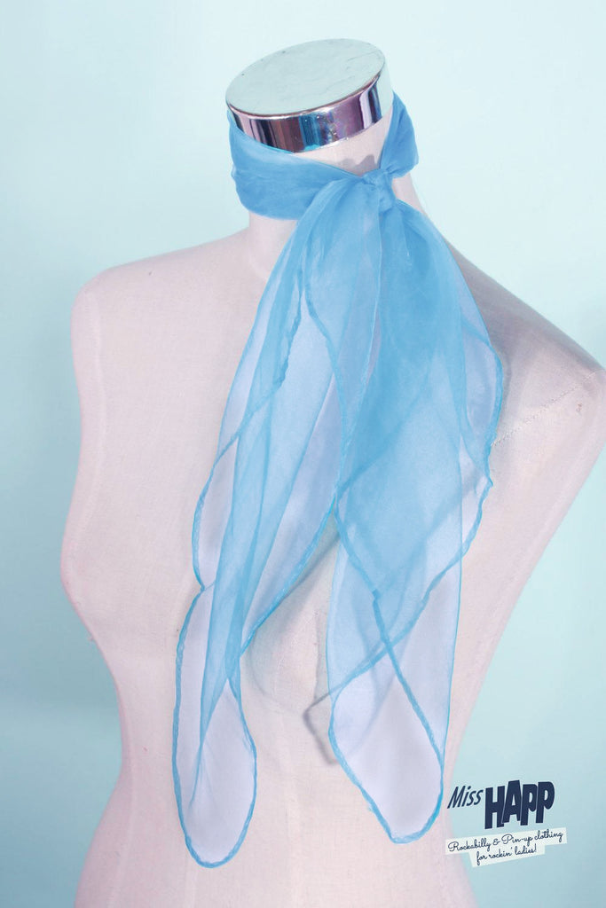 Pale Blue Nylon Scarf