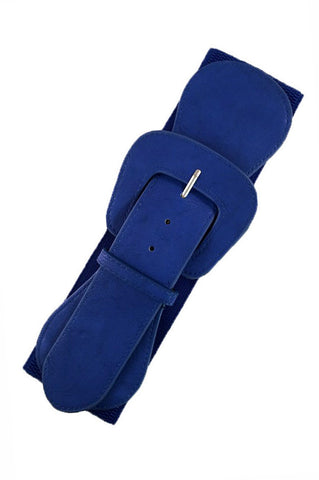 Wide Elasticated Belt Royal Blue