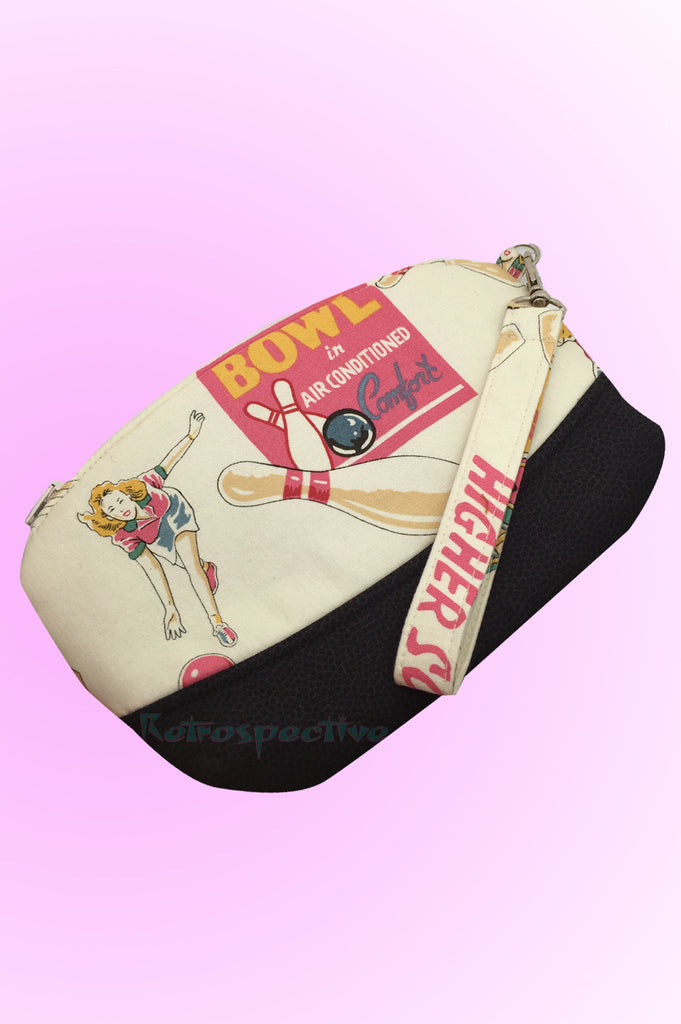 Bowling Days Make Up bag