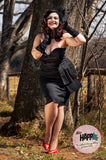 Black Strapless Doris Dress