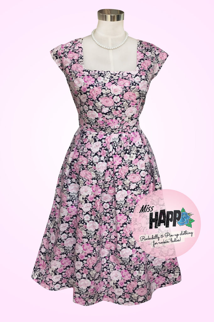 Glenda Pink Rose Dress