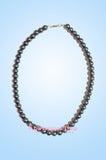 Grey Short Beaded Pearl Necklace