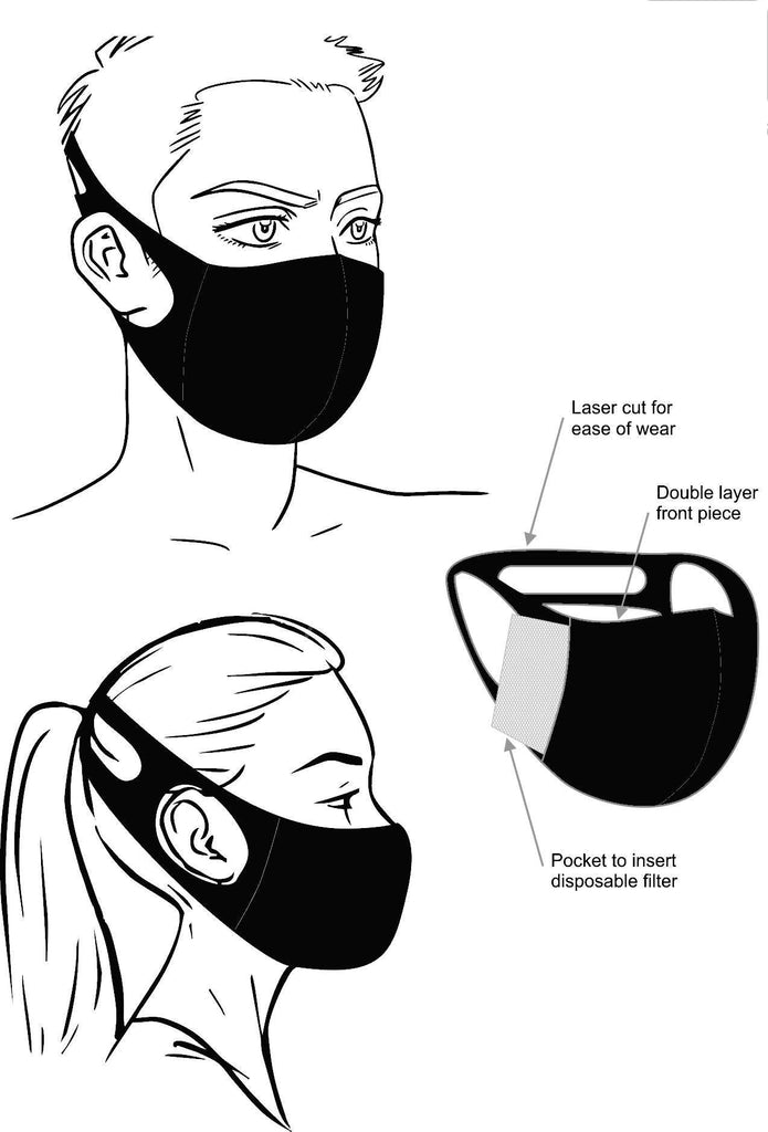 Lycra Lady Luck Face Mask