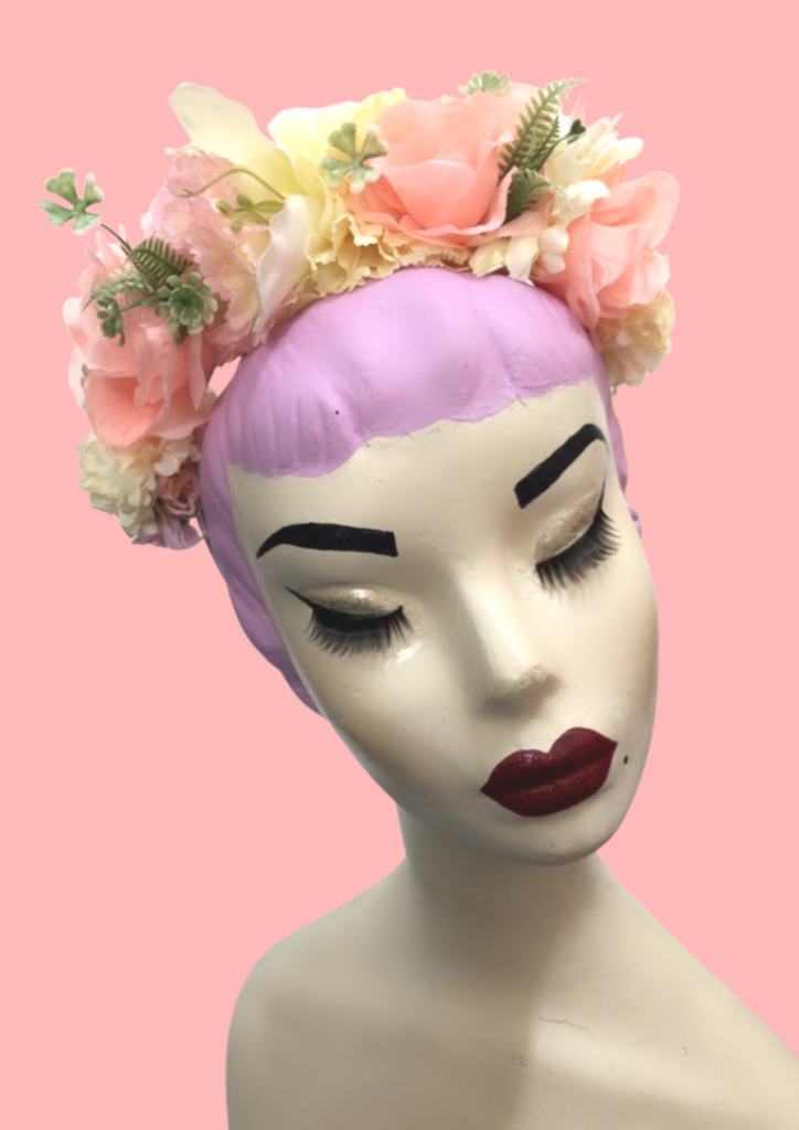 Peach and Cream Flower Crown