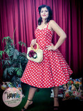 Polka Dot Lucy Dress Red
