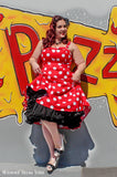 Polka Dot Lucy Dress Red - Plus Size