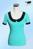 Katy Top Seafoam Green