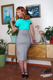Optical Anna Dungaree Pencil Dress