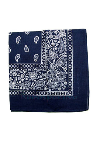 Classic Nautical Navy Paisley Bandana