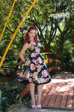 Navy Rose Nancy Dress