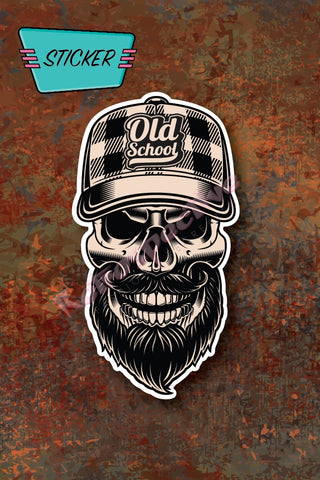 Old School Skull sticker