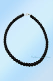 Black Short Beaded Pearl Necklace