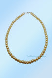 Antique Gold Short Beaded Pearl Necklace