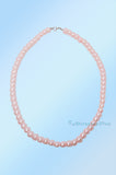 Pale Pink Short Beaded Pearl Necklace