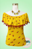 Pineapple Yellow Off the shoulder Camila Top