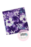 Square Bandana Purple Hibiscus