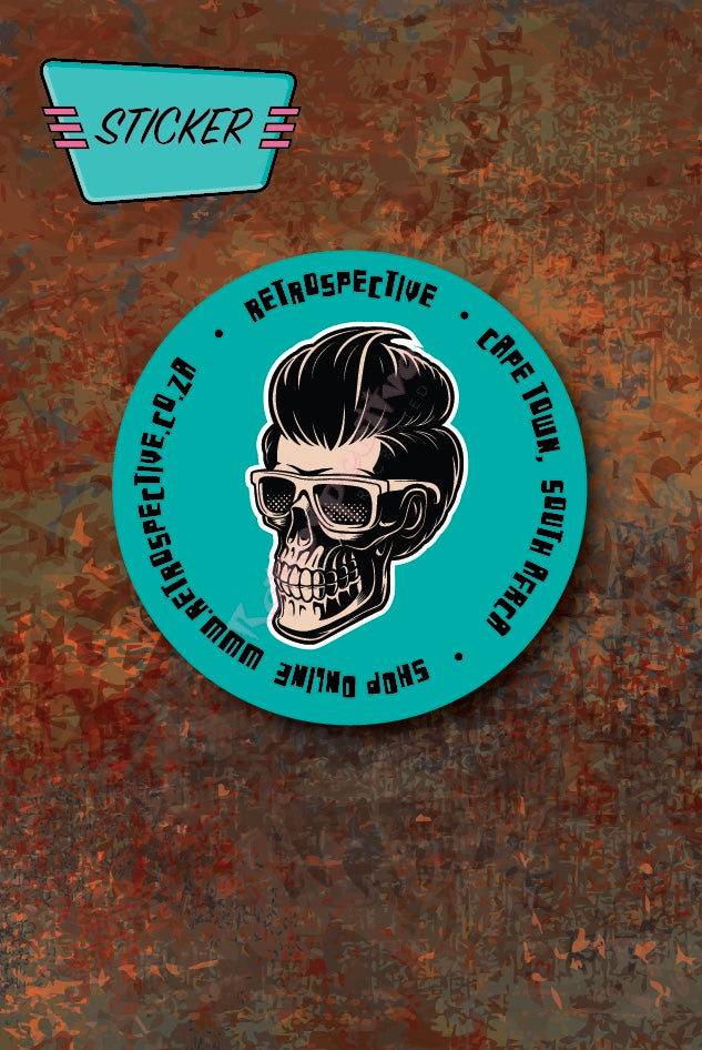 Greaser Skull Car License Disc sticker
