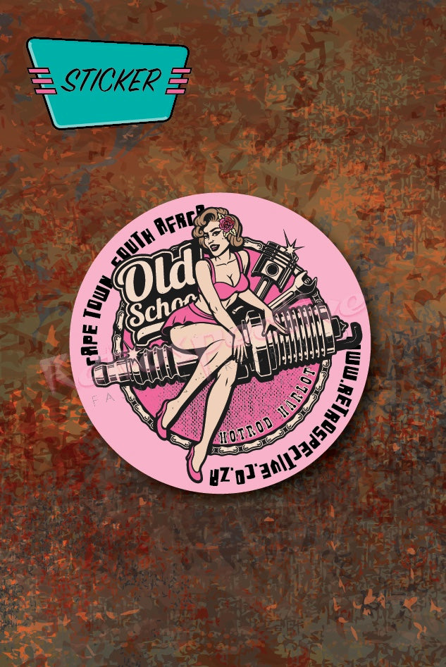 Hot Spark Pinup Car License Disc sticker