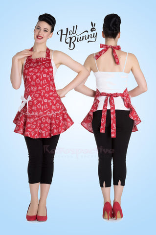 Red Nautical Apron