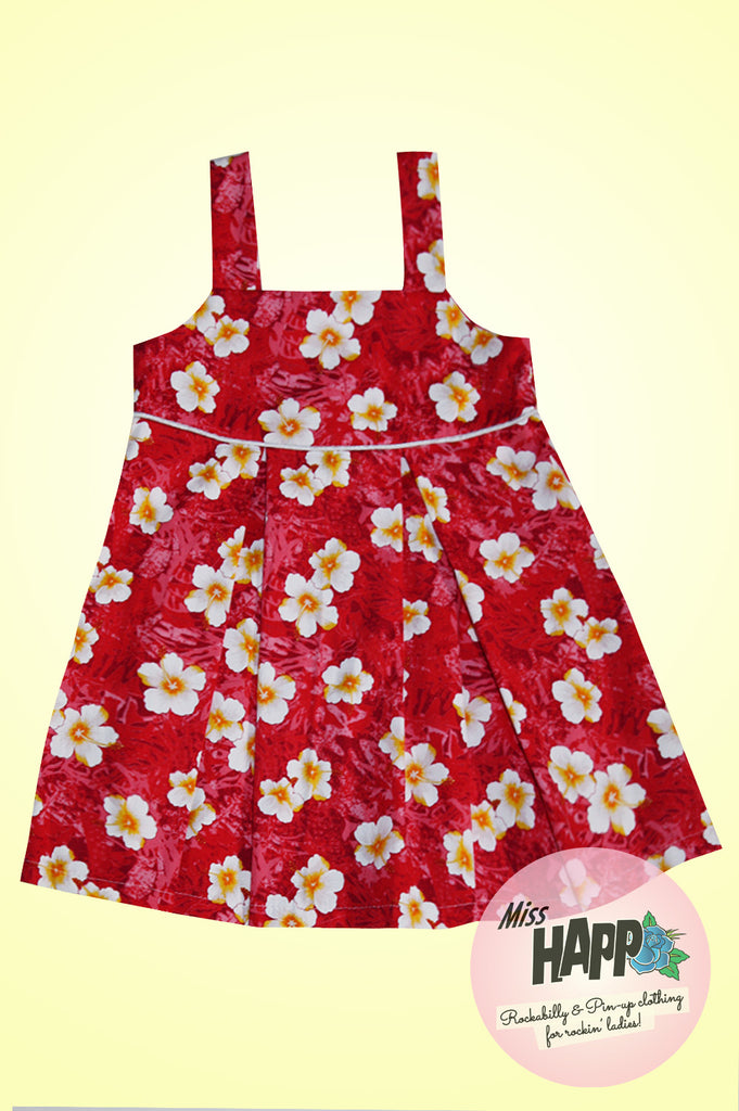 Red Hibiscus Pinafore