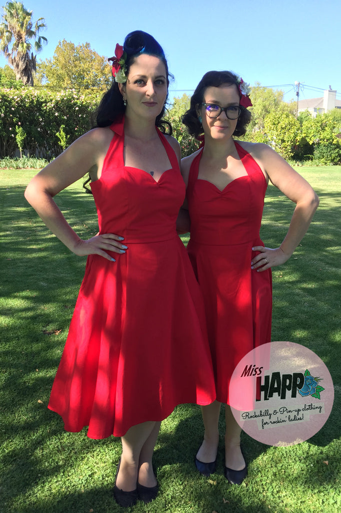 Red Angie Halterneck Dress