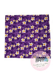 Square Bandana Purple Frangipani