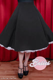 Starla Flared Skirt in Black
