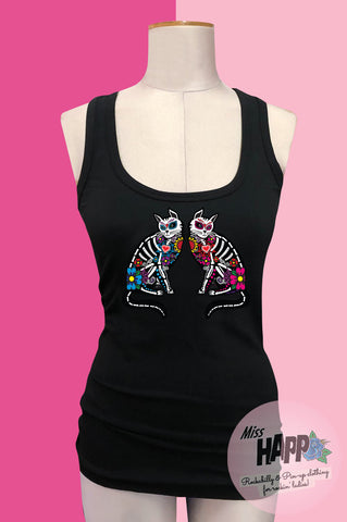 Sugar Skull Kitty Vest