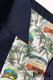 Surfari Navy Bowling Shirt