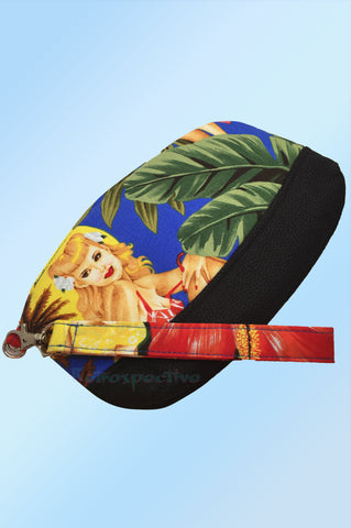 Blue Tiki Pinup Make Up bag