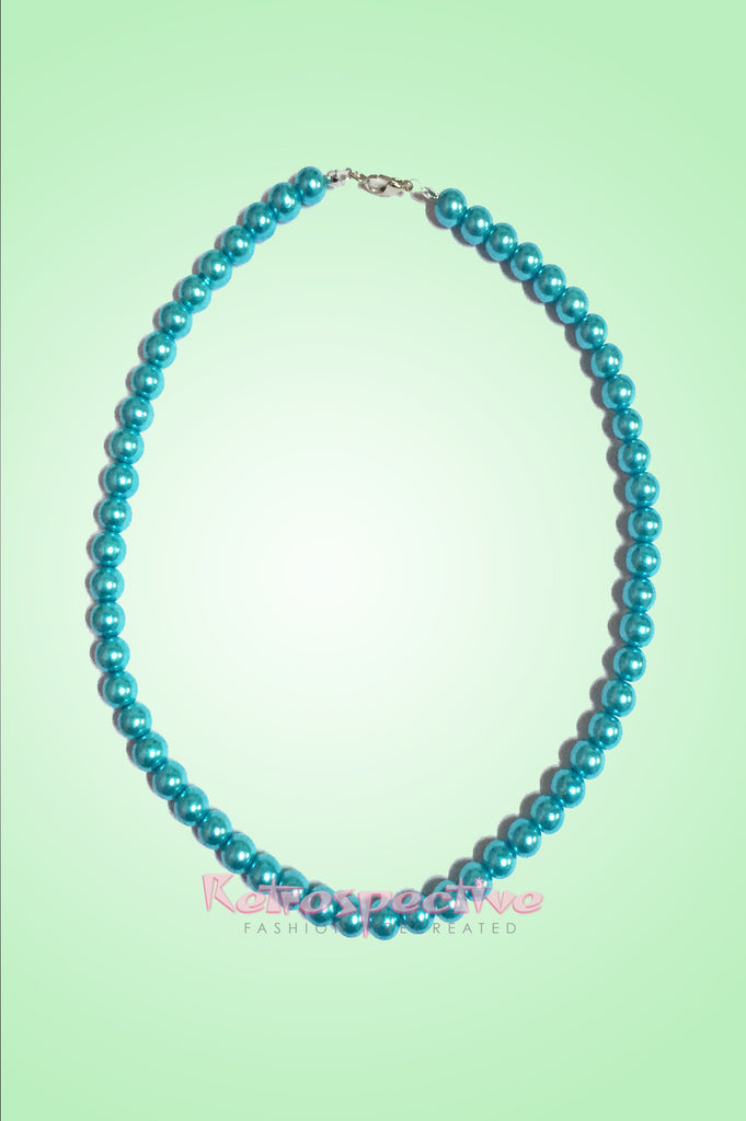 Turquoise Short Beaded Pearl Necklace