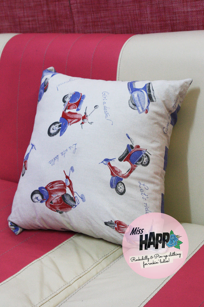 Retro Vespa Cushion