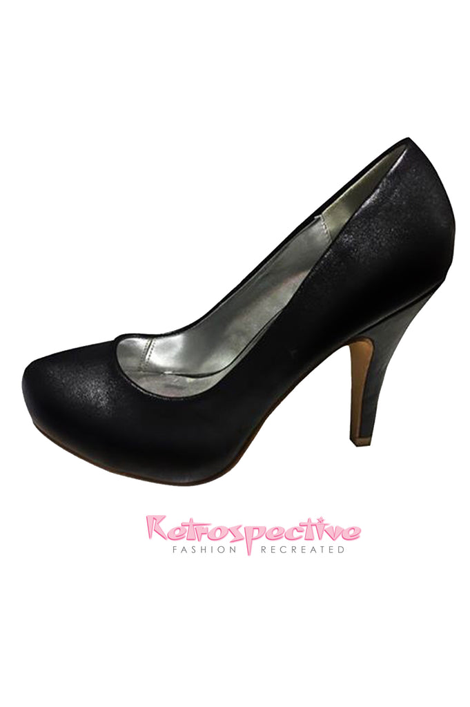 Black High Heel Pump Size 4