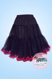 Fiona Frill Petticoat in Red Black - PRE ORDER