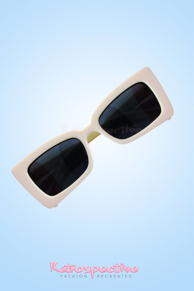 Cream Mod Sunglasses