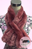 Silver Grey faux fur fluffy scarf
