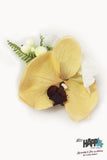 Golden Tiki Orchid hair flower clip