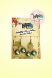 Green Pearl Cherry Earrings