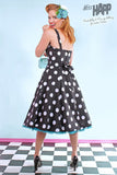Polka Dot Lucy Dress Black