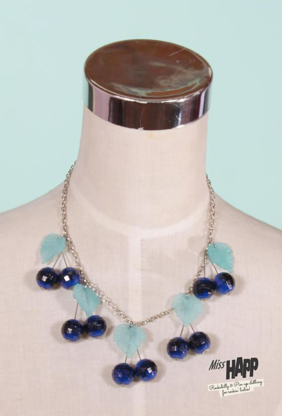 Blue Berry Beaded Neclace