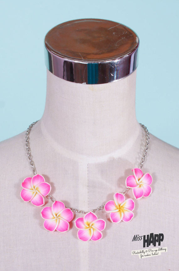 Fangipani Necklace Pink
