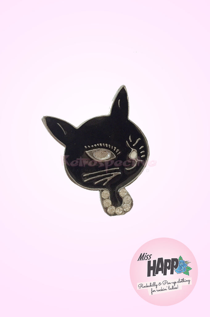 Atomic Kitty Retro brooch