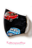 Cotton Mini Cars Face Mask