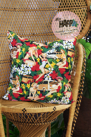 Mini Beach Pinups Cushion